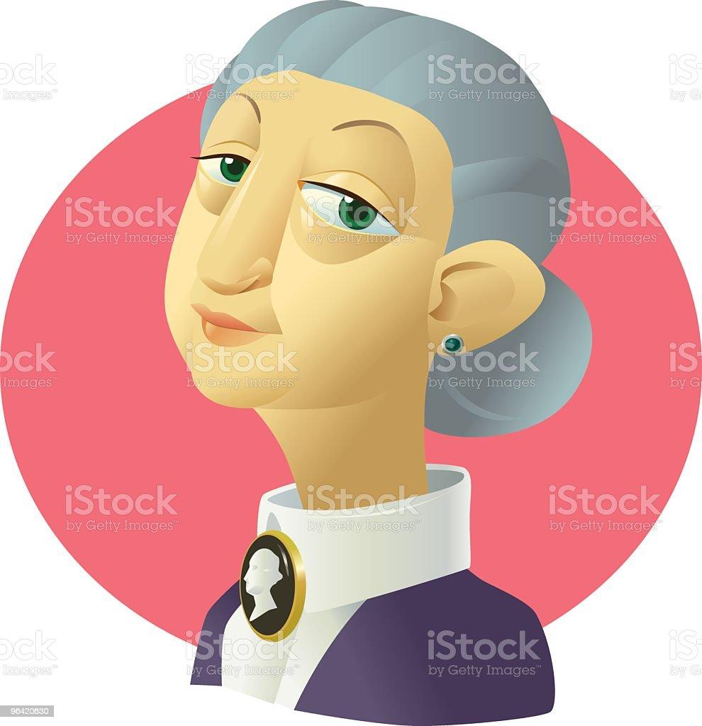 Madam Patricia royalty-free stock vector art
