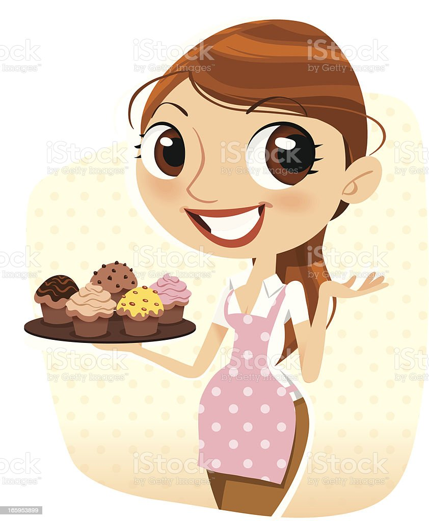 I Made Cupcakes! vector art illustration