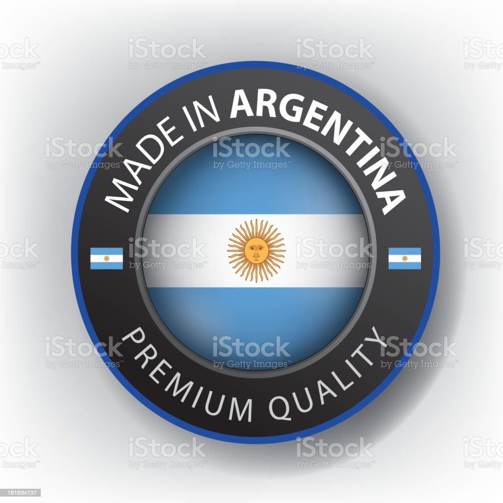 Made in ARGENTINA, Argentinian seal, Flag, (Vector) royalty-free stock vector art