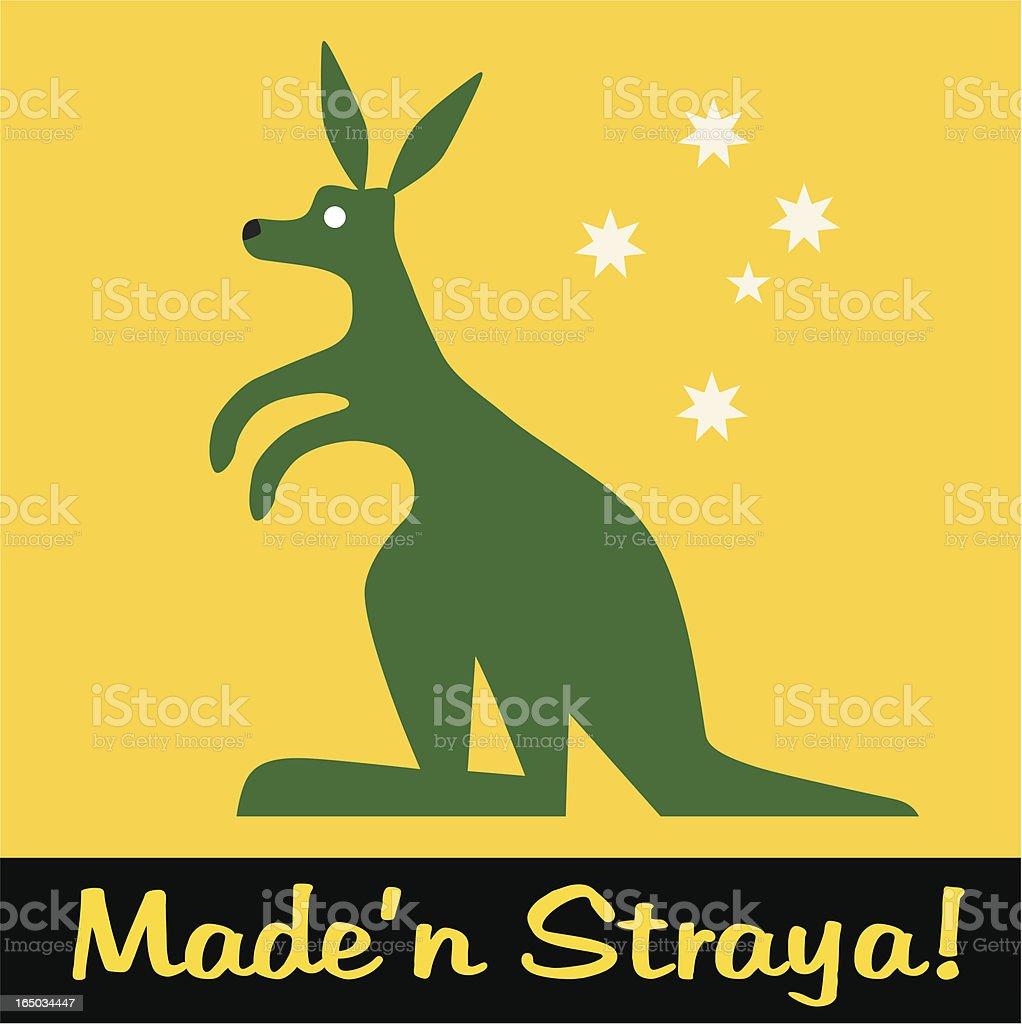 Made in Australia royalty-free stock vector art