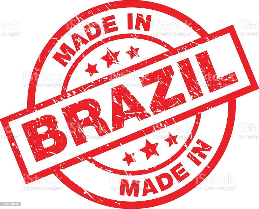 Made in Brazil vector art illustration