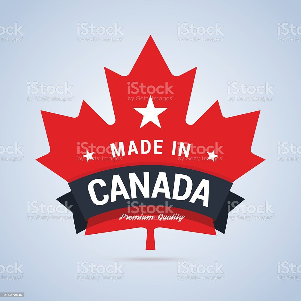 Made in Canada badge. vector art illustration