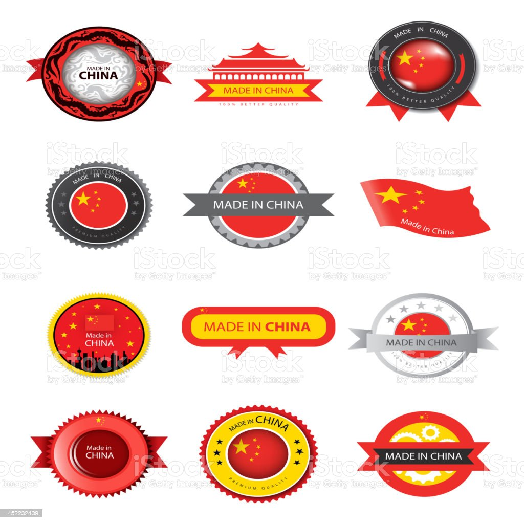 Made in China royalty-free stock vector art