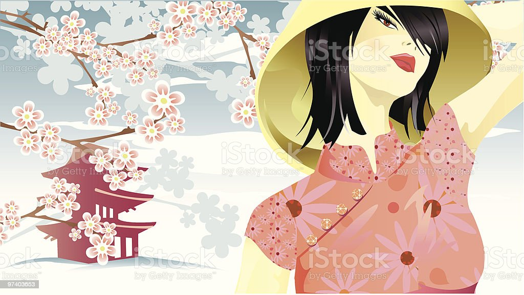 Made in China vector art illustration