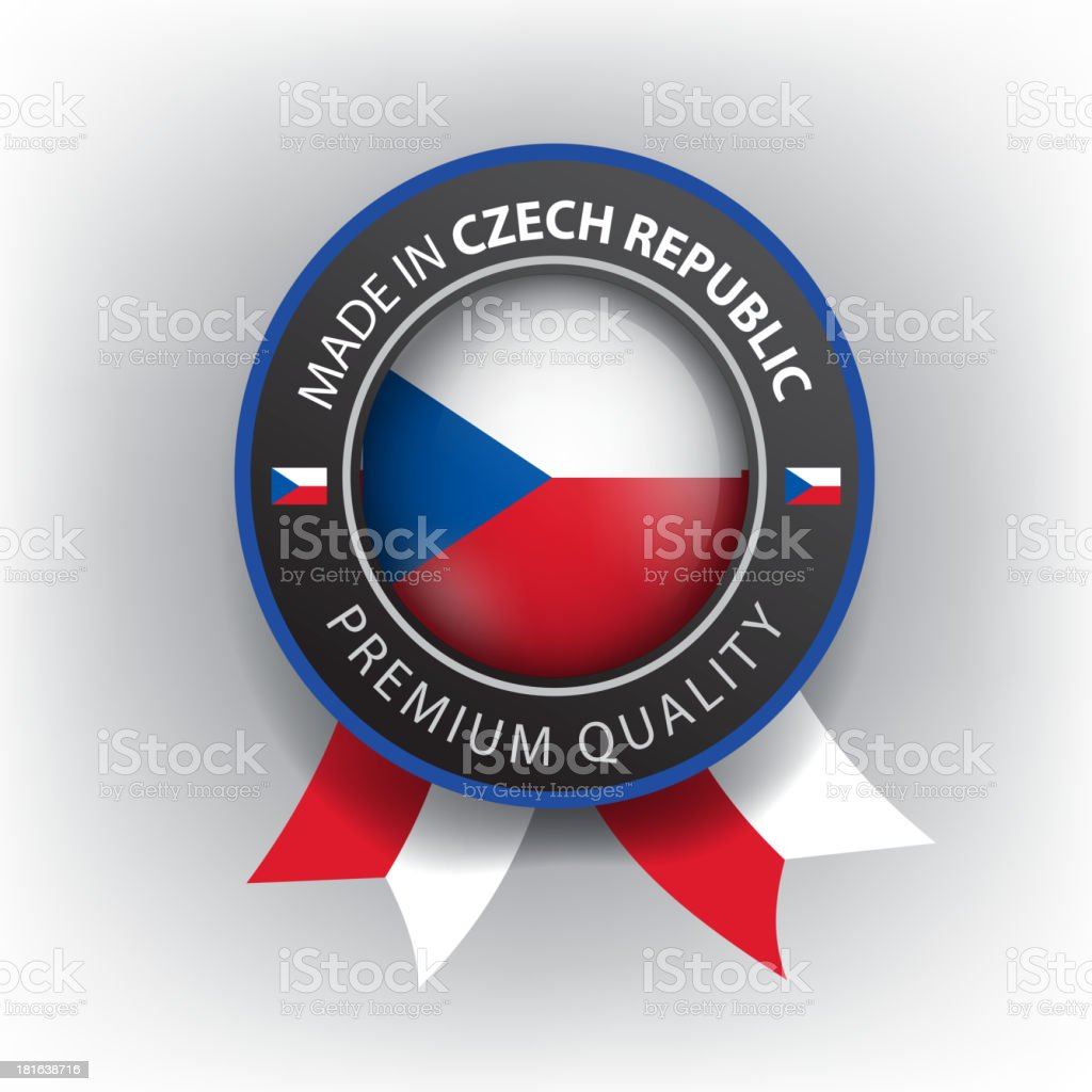 Made in CZECH REPUBLIC, seal, Flag, (Vector) royalty-free stock vector art