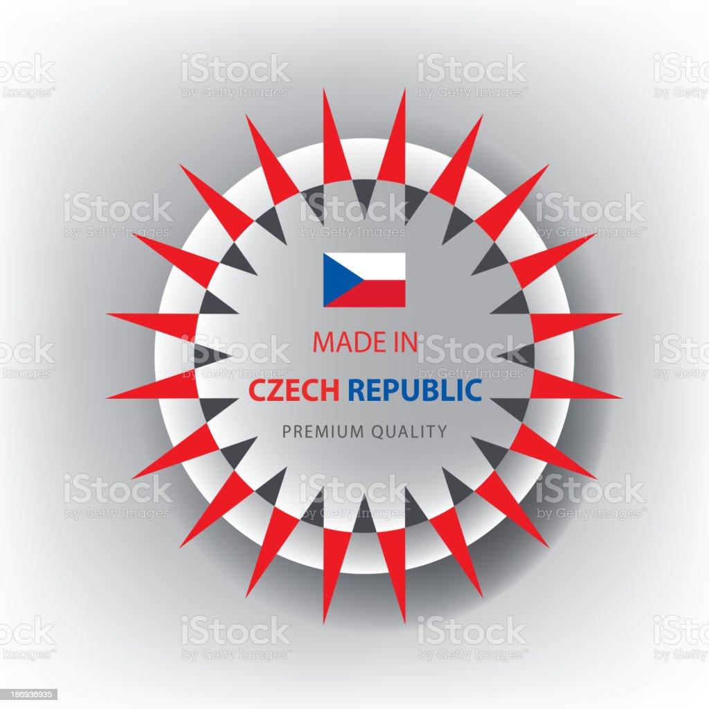 Made in CZECH REPUBLIC, seal, Flag, (Vector) royalty-free stock vector art