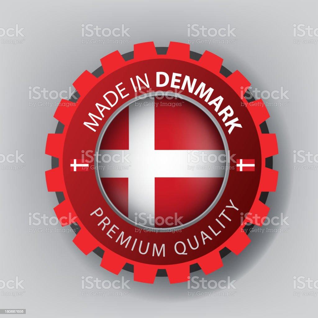 Made in Denmark, seal, Flag, (Vector) royalty-free stock vector art