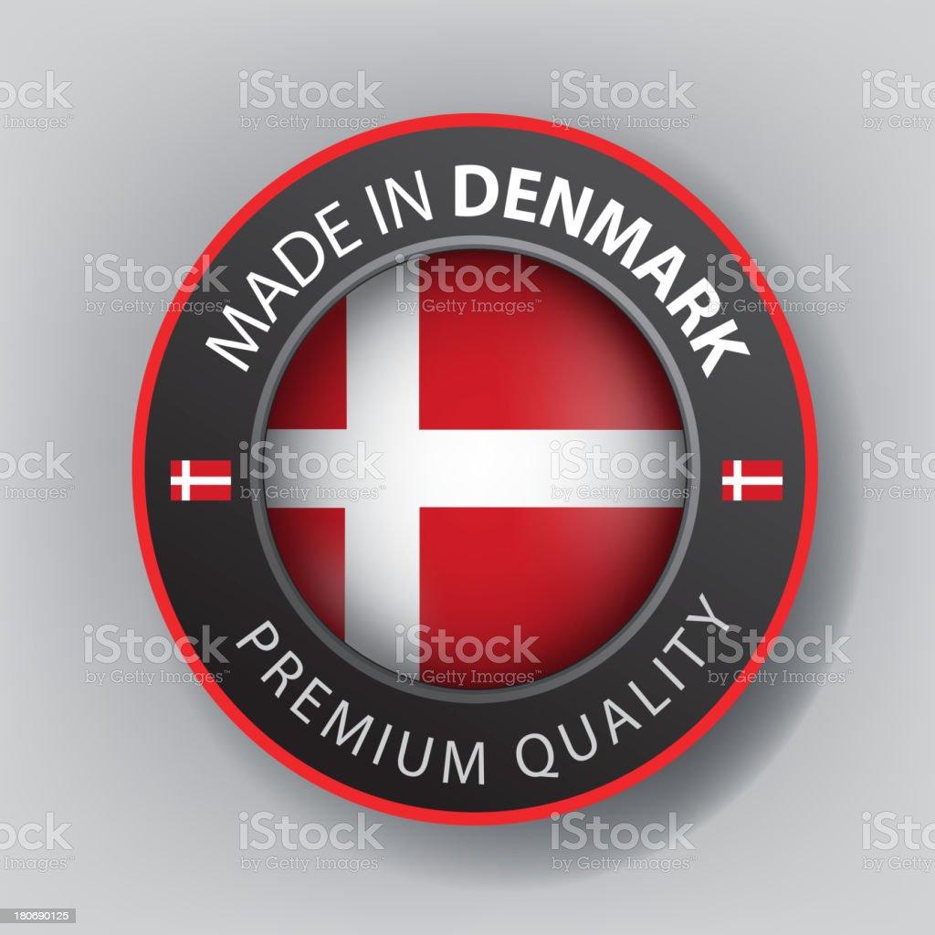 Made in Denmark, Seal, Flag (Vector) royalty-free stock vector art