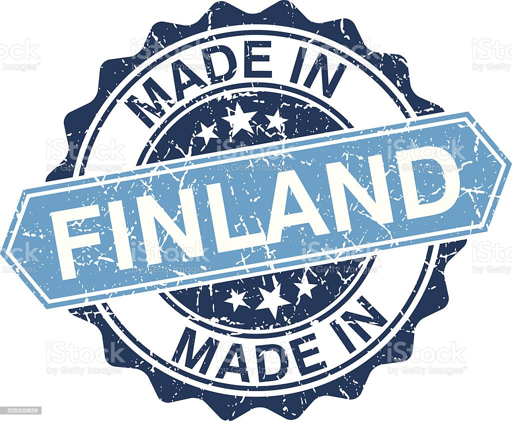 Made in Finland vintage stamp isolated on white background vector art illustration