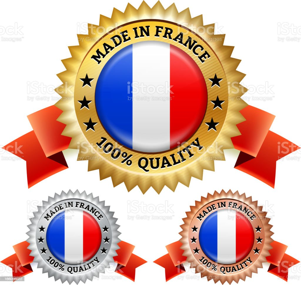 Made in France Badge royalty free vector icon set royalty-free stock vector art