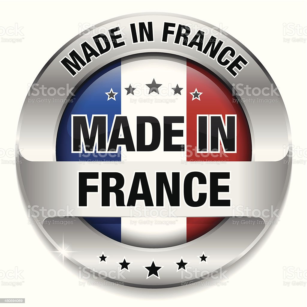 Made in france button royalty-free stock vector art