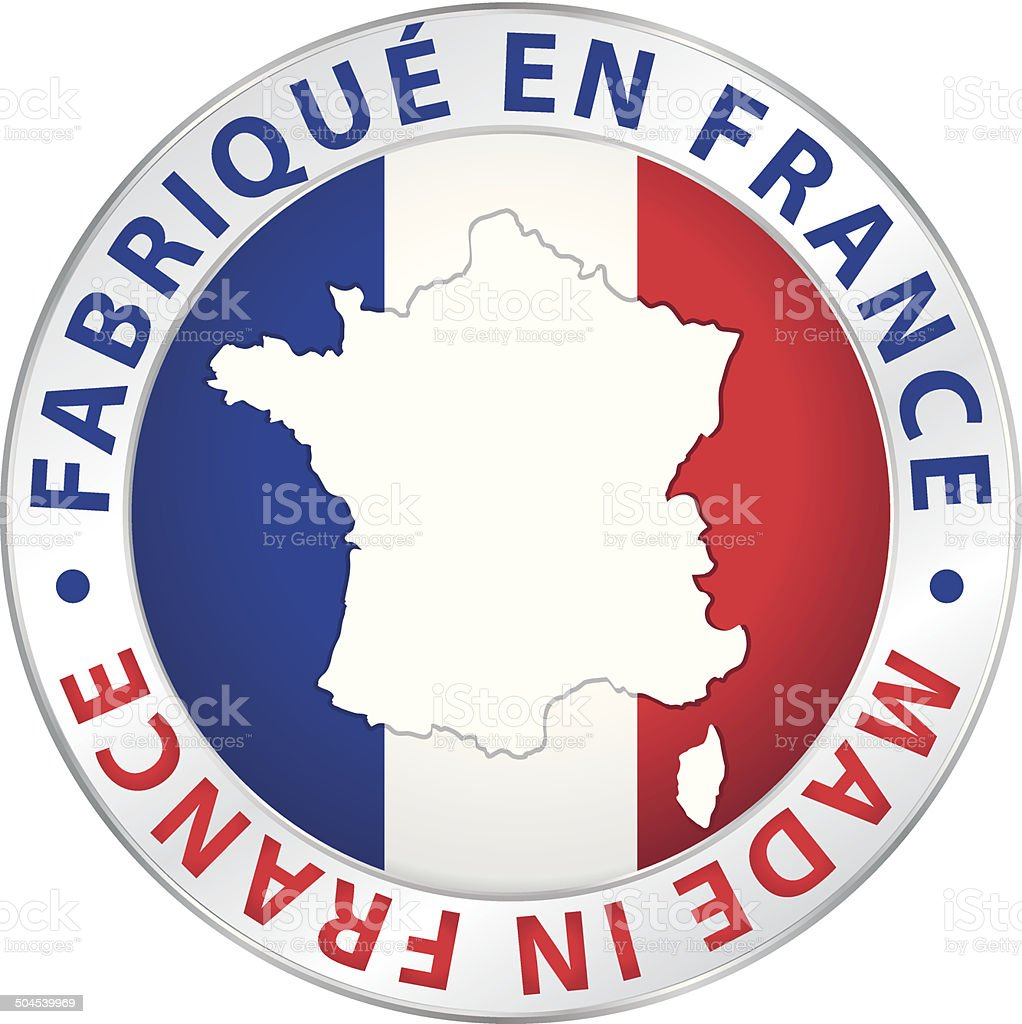 Made in France. Guaranteed vector label. vector art illustration