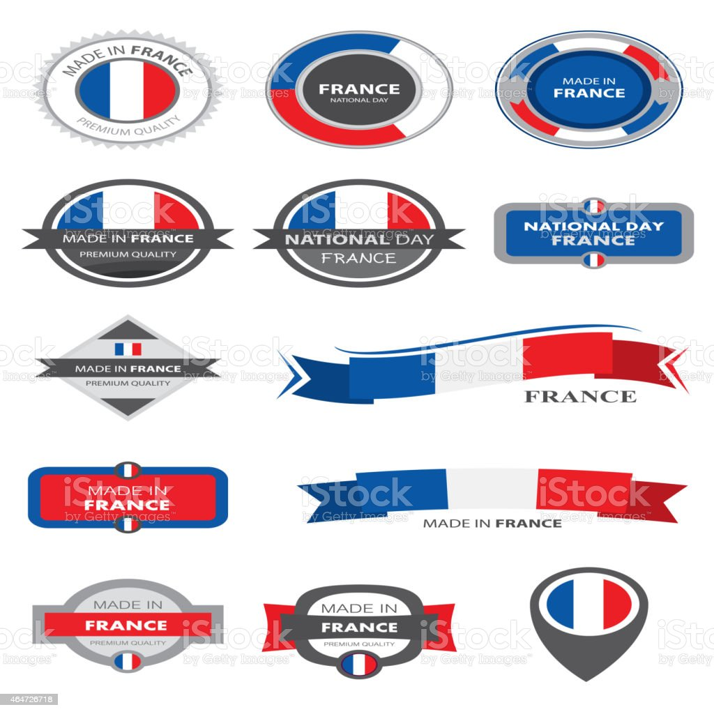 Made in France Seal Collection, French Flag (Vector Art) vector art illustration