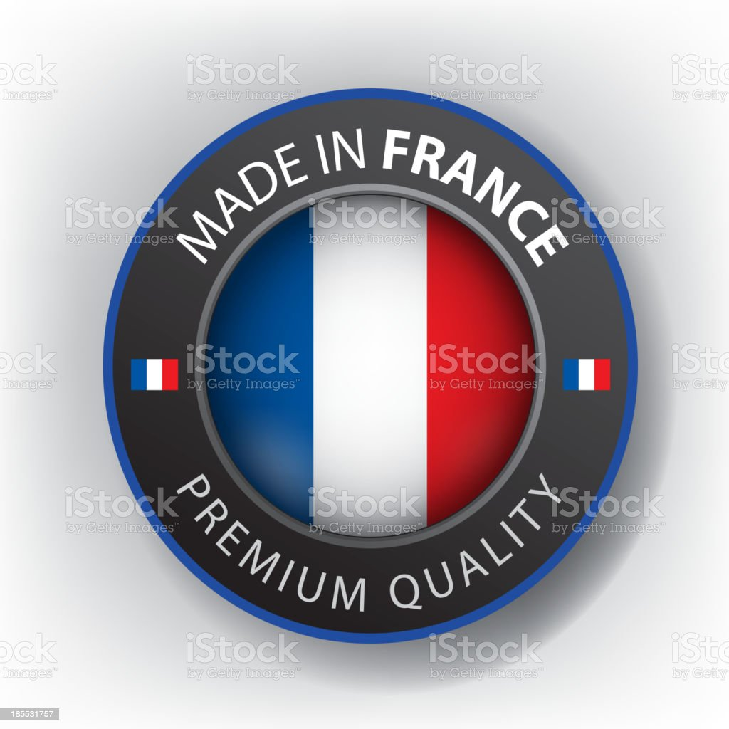 Made in FRANCE, seal, Flag, (Vector) royalty-free stock vector art