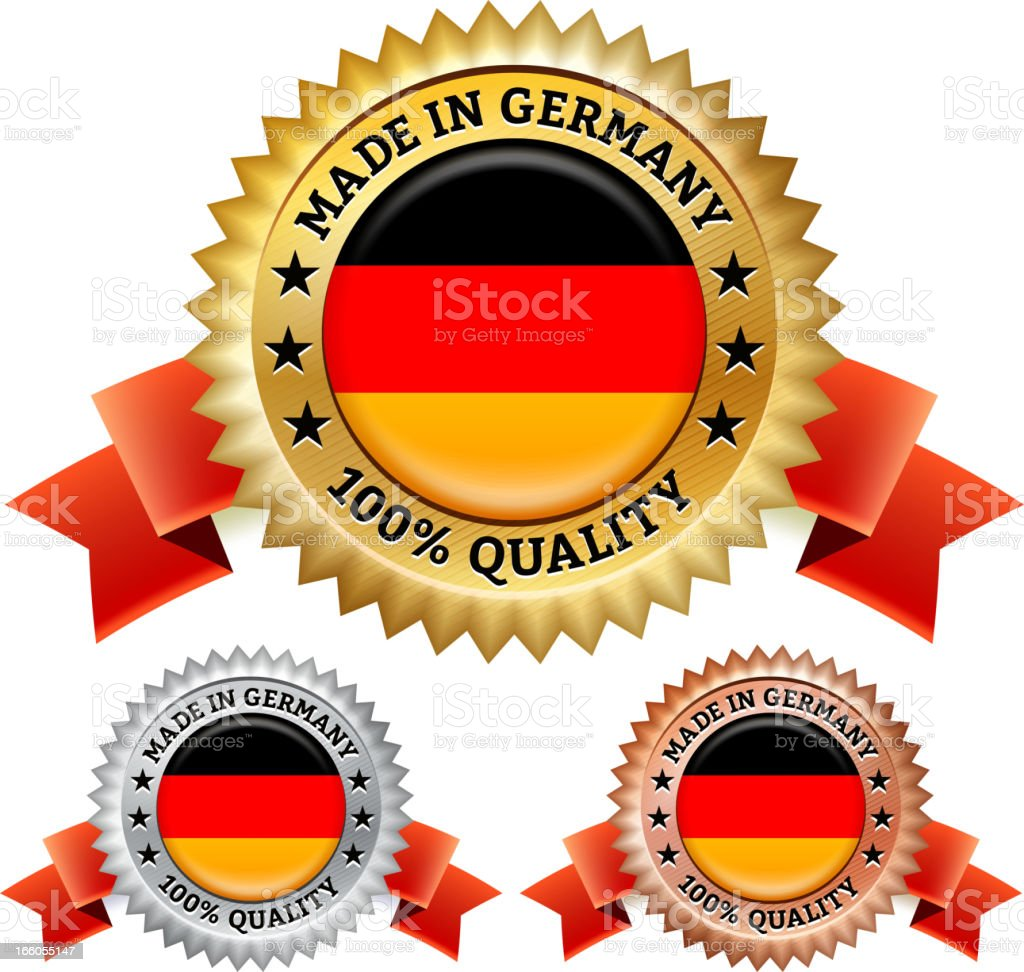 Made in Germany Badge royalty free vector icon set royalty-free stock vector art
