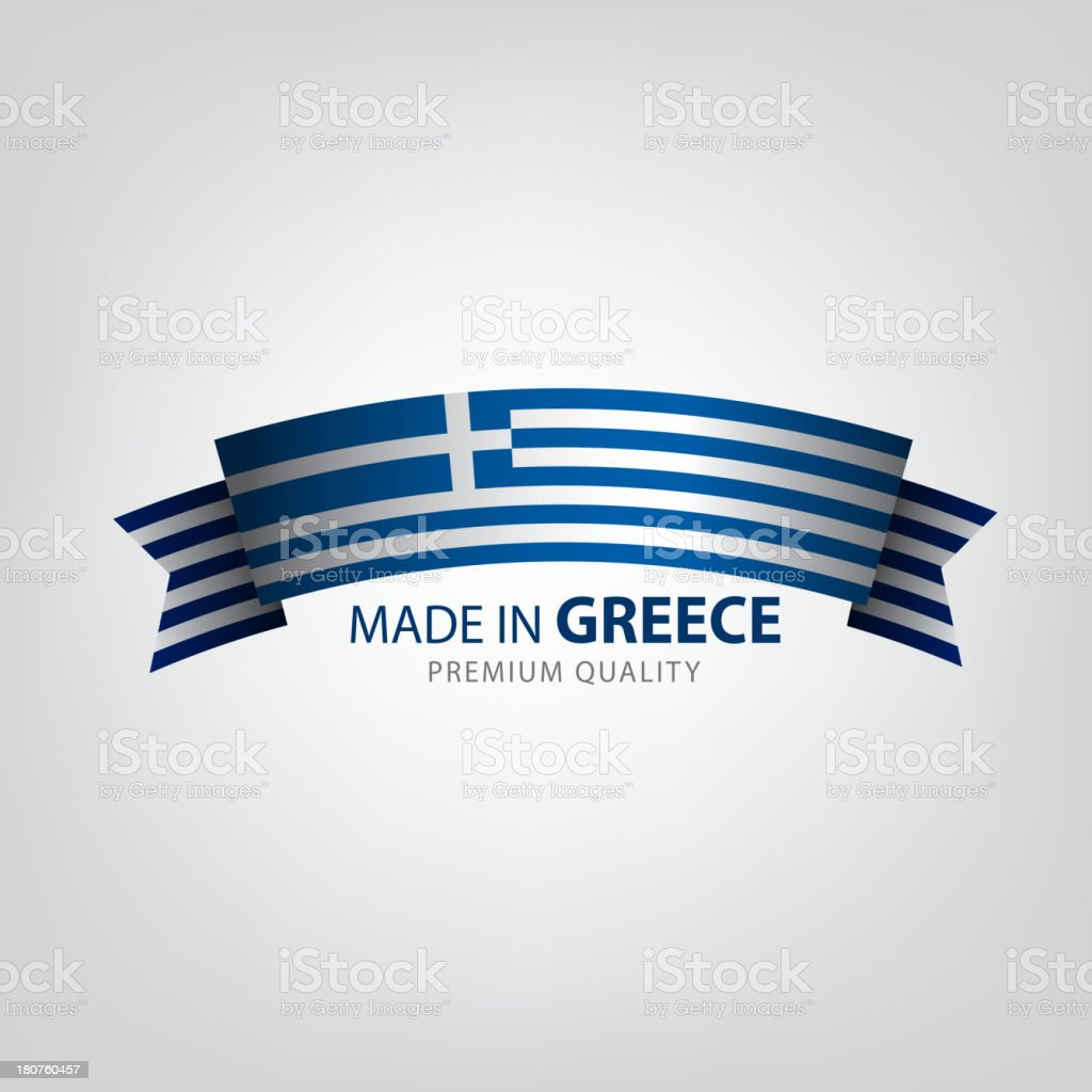 Made in Greece, seal, Flag, (Vector) royalty-free stock vector art