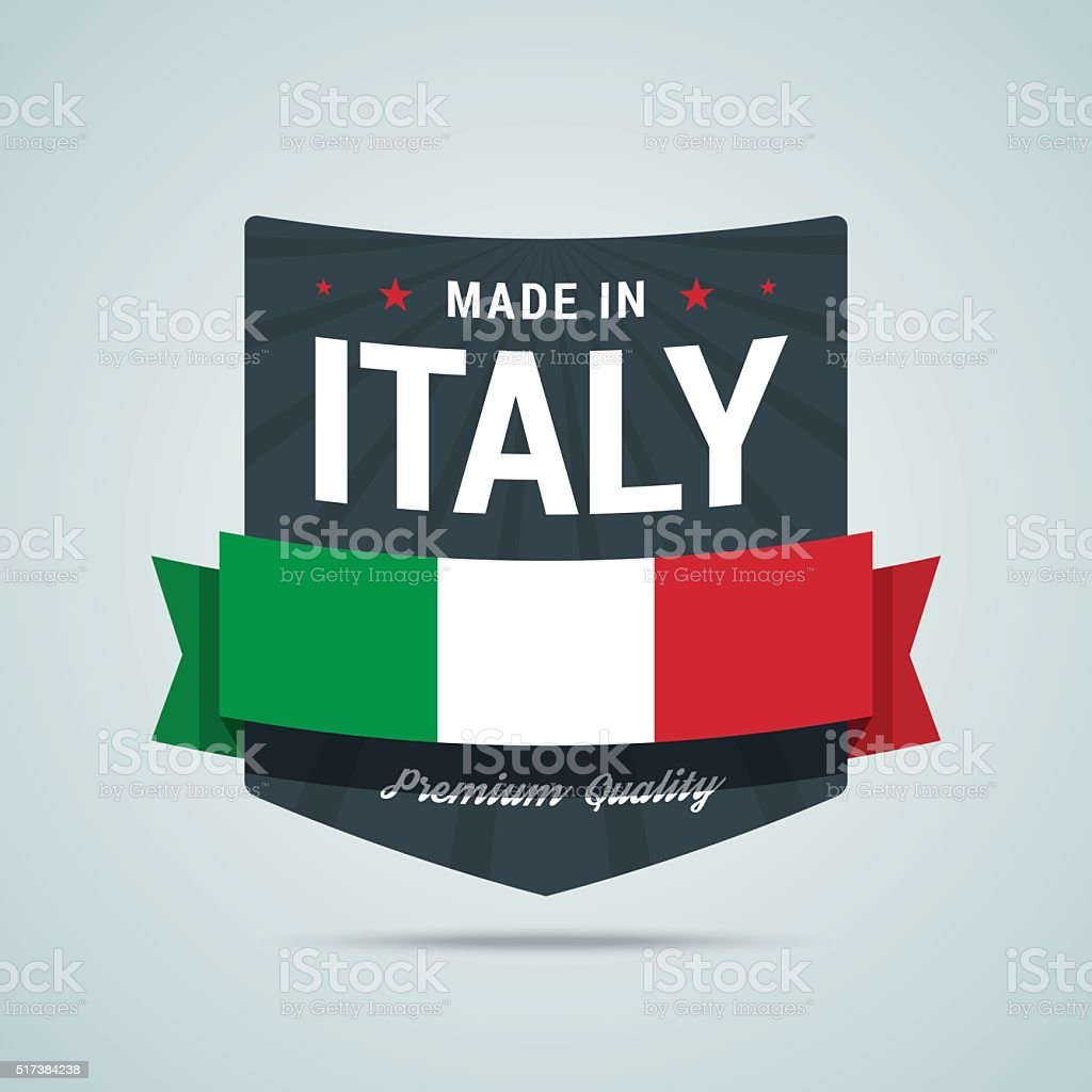 Made in Italy badge. vector art illustration