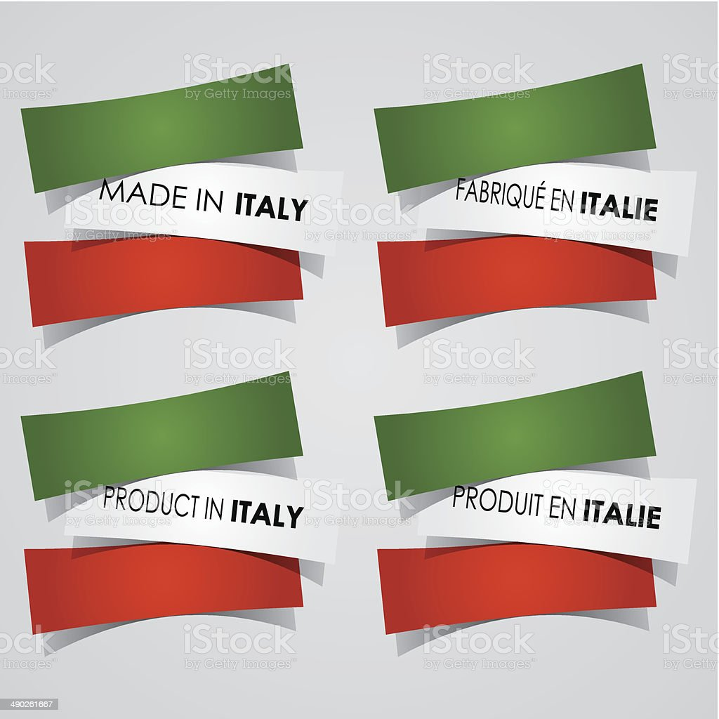 Made in Italy Badges royalty-free stock vector art