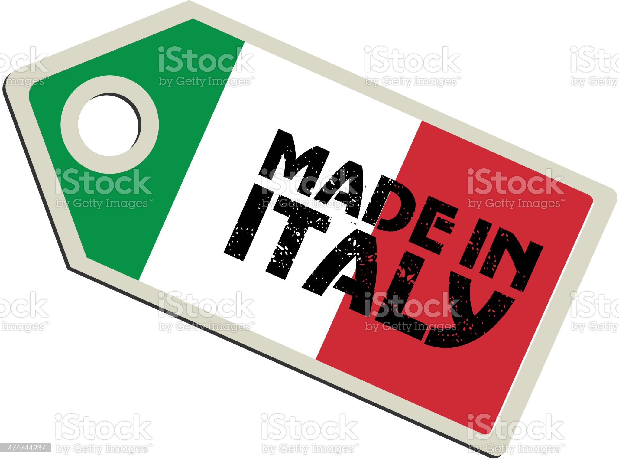 Made in Italy royalty-free stock vector art