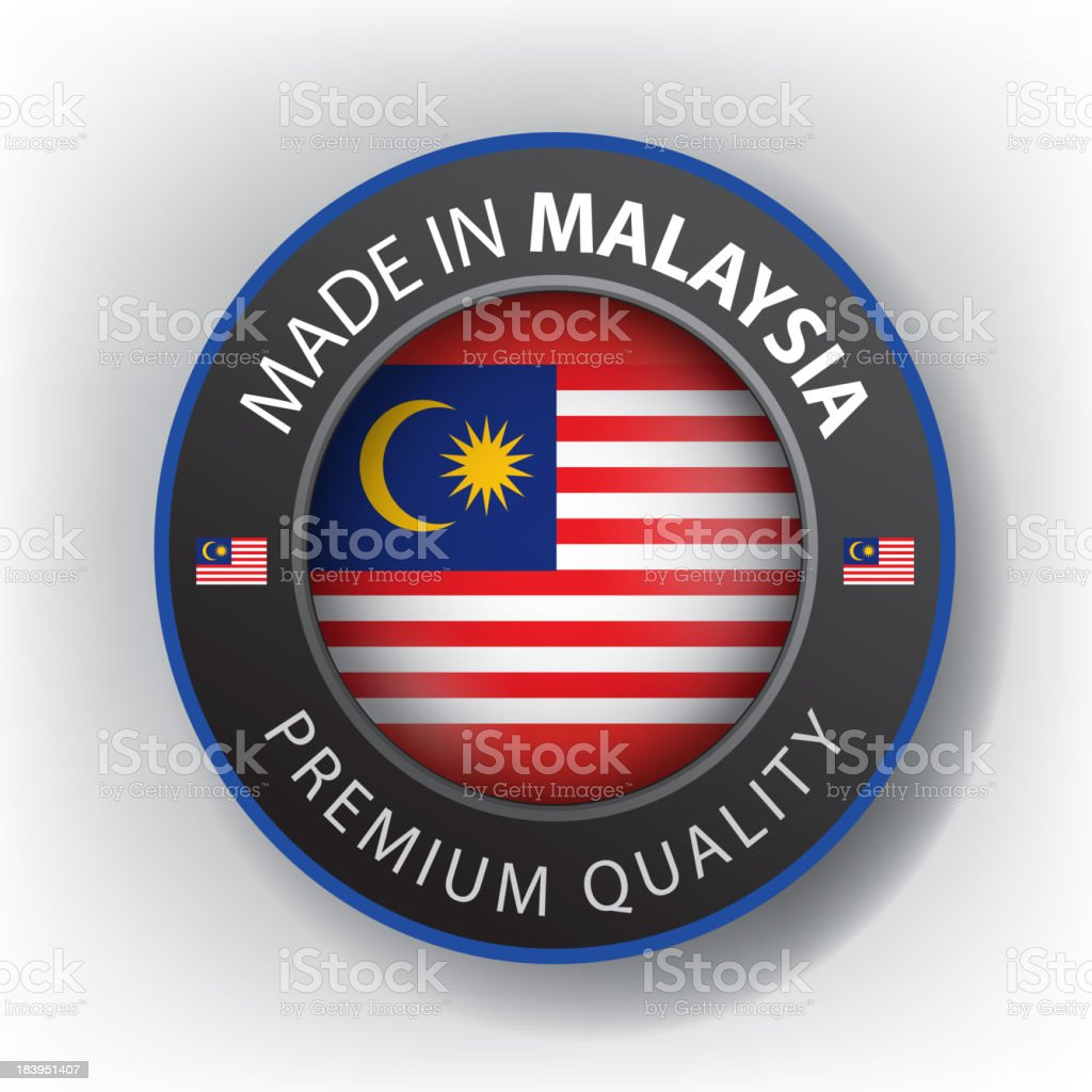 Made in MALAYSIA, Malaysian seal, Flag, (Vector) royalty-free stock vector art