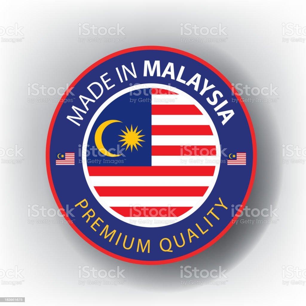 Made in MALAYSIA, Malaysian seal, Flag, (Vector) royalty-free stock vector art
