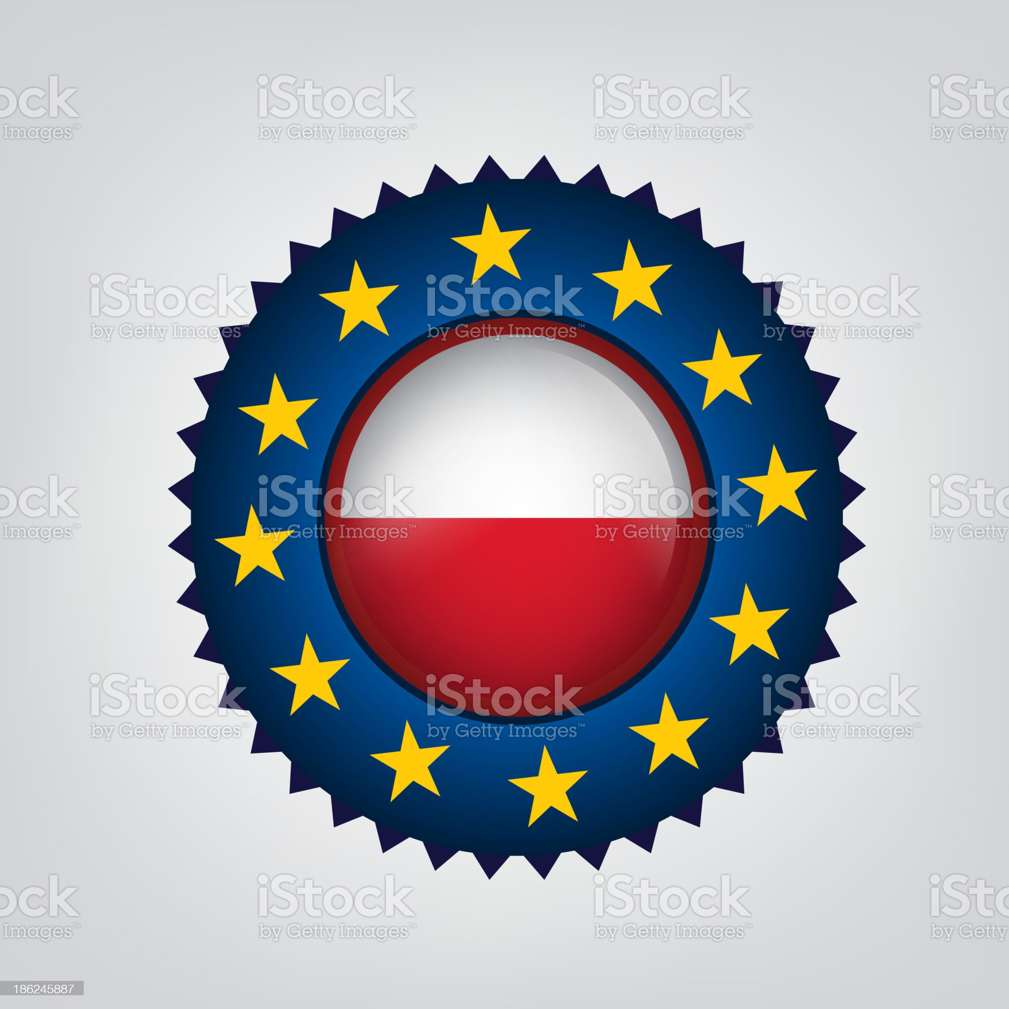 Made in POLAND, EU seal, Flag, (Vector) royalty-free stock vector art
