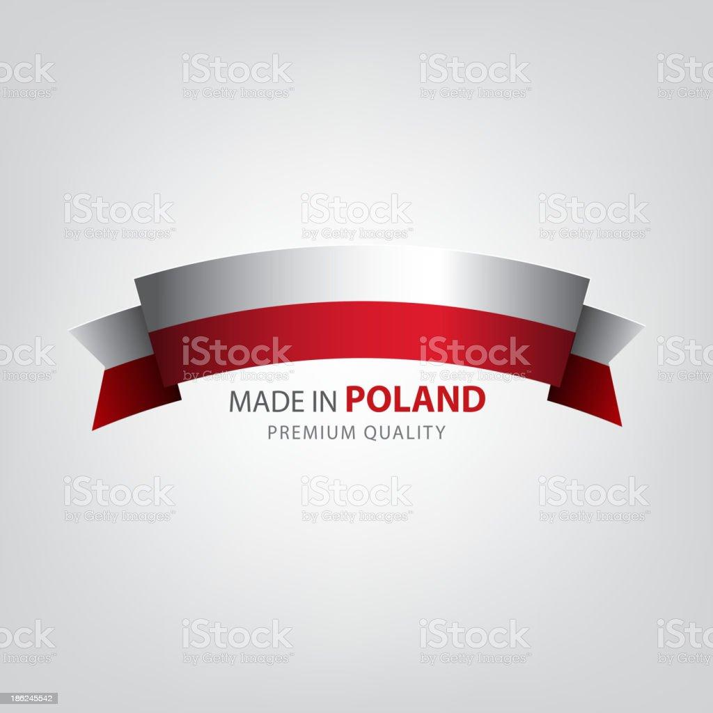 Made in POLAND, Polish seal, Flag, (Vector) vector art illustration