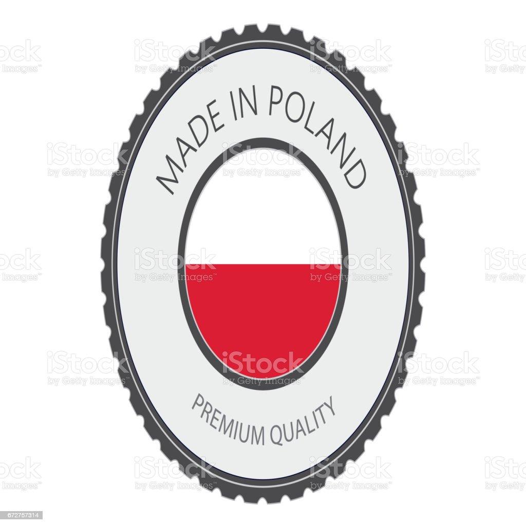 Made in Poland Seal, Polish Flag (Vector Art) vector art illustration