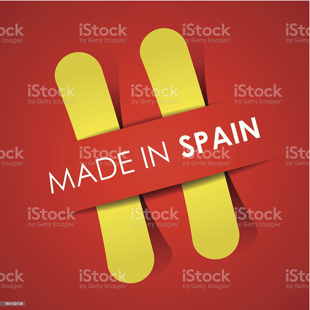 Made in Spain royalty-free stock vector art