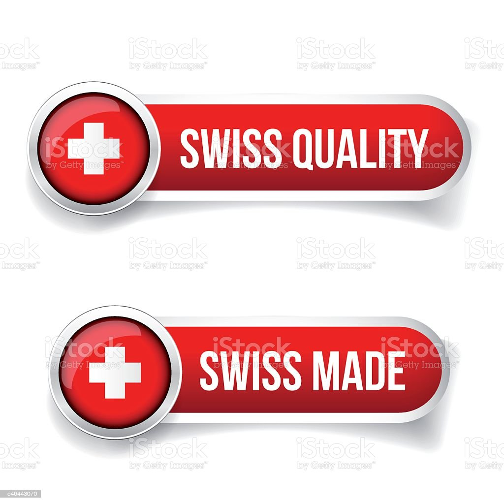 Made in Switzerland. Swiss made vector art illustration
