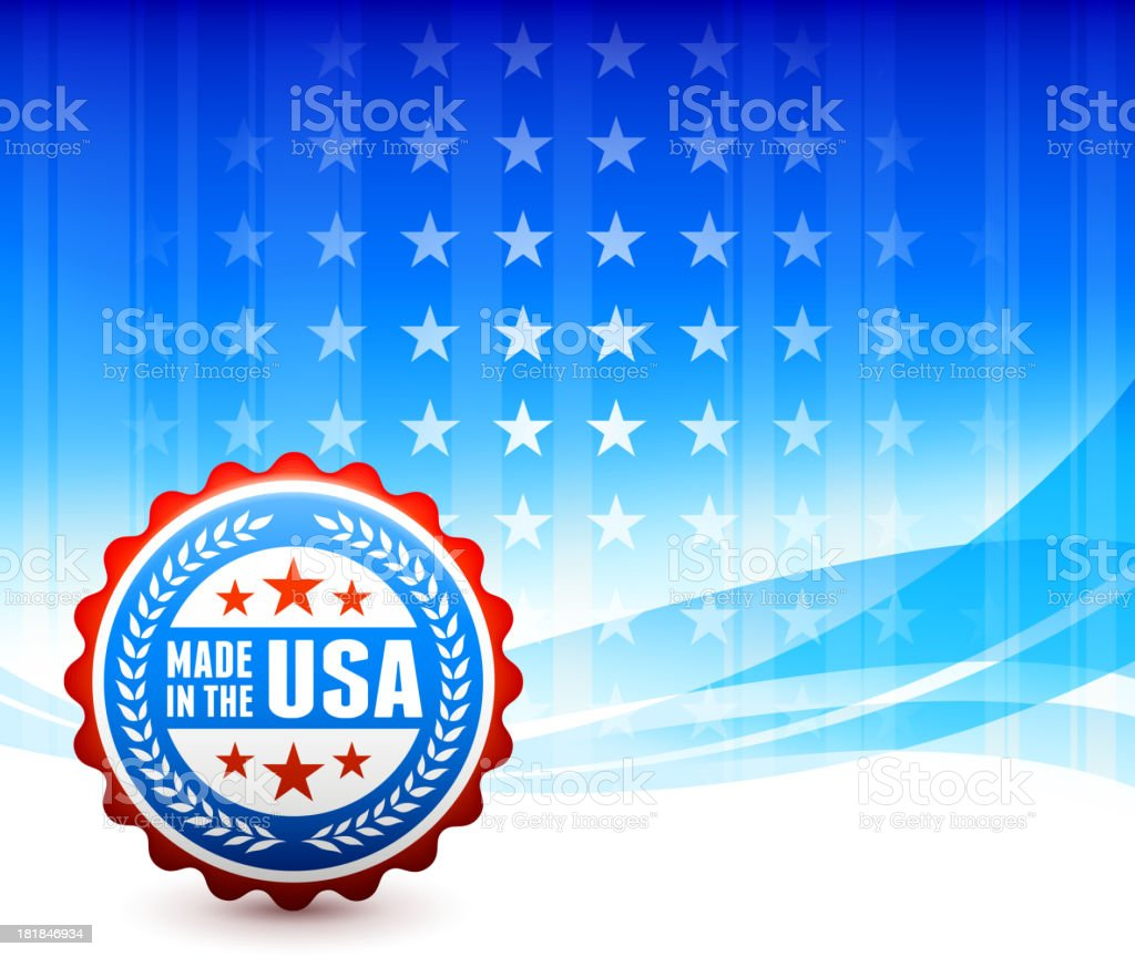 Made in the USA patriotic Background royalty-free stock vector art