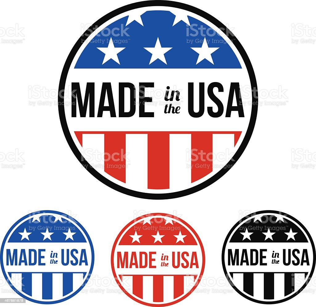 Made in the USA Sticker vector art illustration