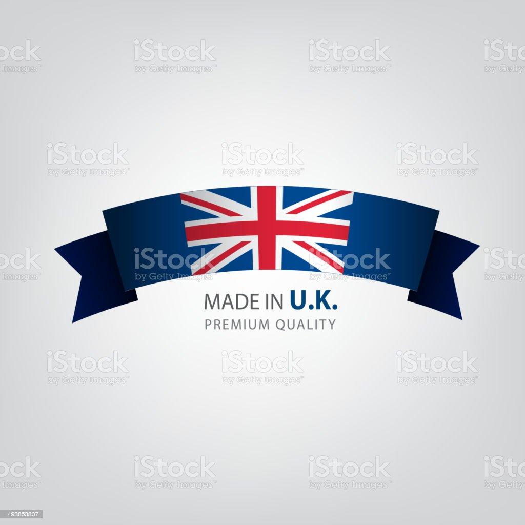 made in United Kingdom ribbon, seals,UK Flag (vector Art) vector art illustration
