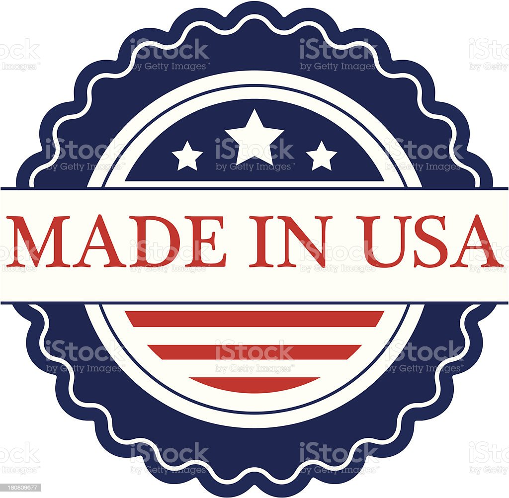 Made in USA label - VECTOR royalty-free stock vector art
