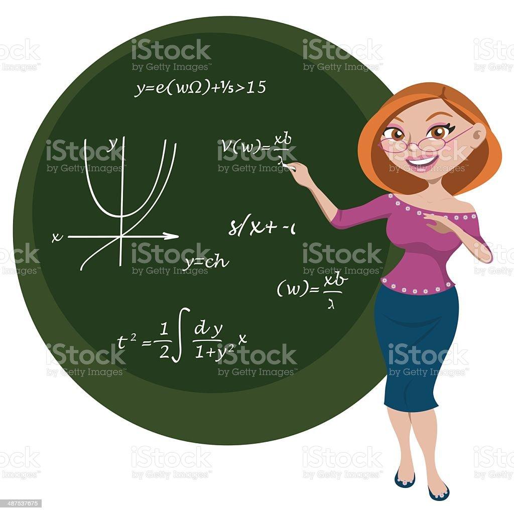 Maestra vector art illustration