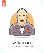 Mafia boss illustration People lifestyle and occupation