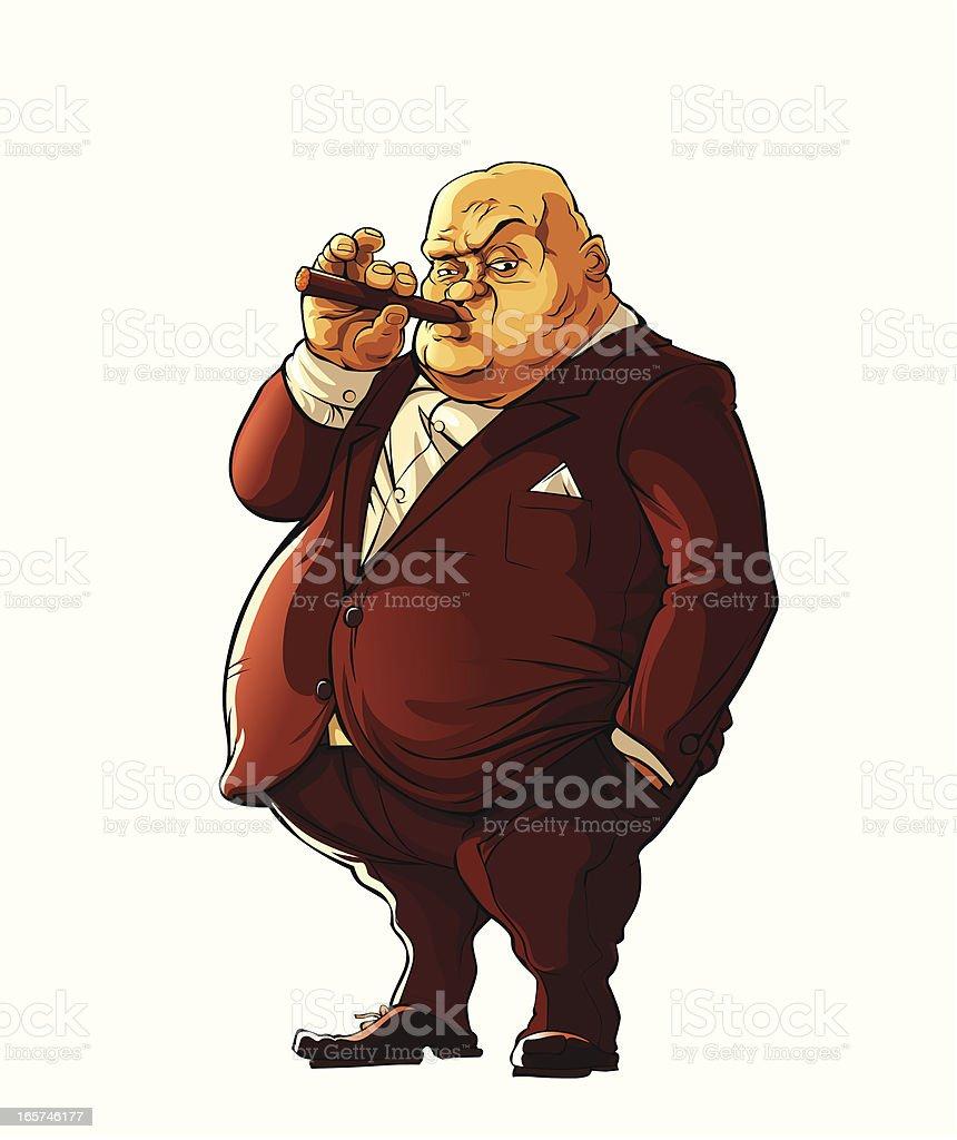 Mafia boss royalty-free stock vector art