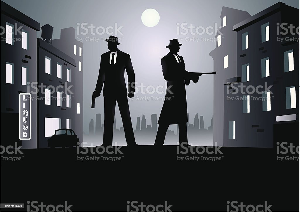 Mafia Neighborhood vector art illustration