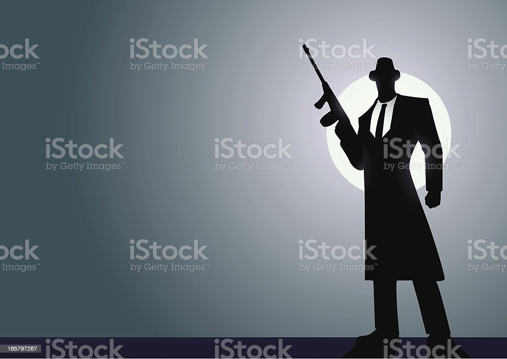 Mafia Silhoutte vector art illustration