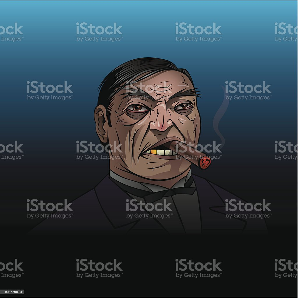 Mafiosi vector art illustration
