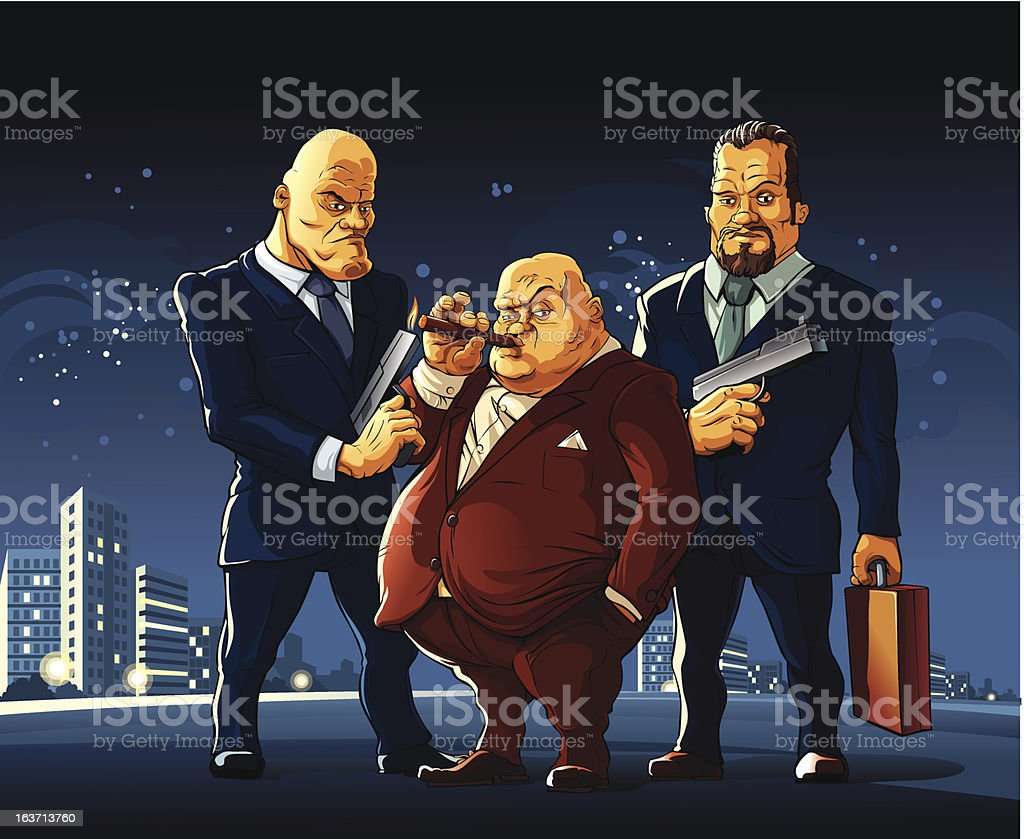 Mafia vector art illustration
