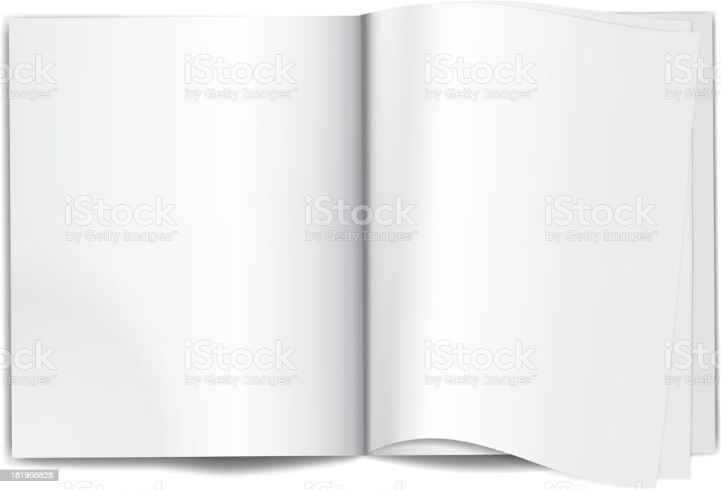 Magazine blank pages royalty-free stock vector art