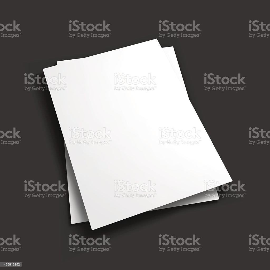 Magazine, booklet, business card or brochure template vector art illustration