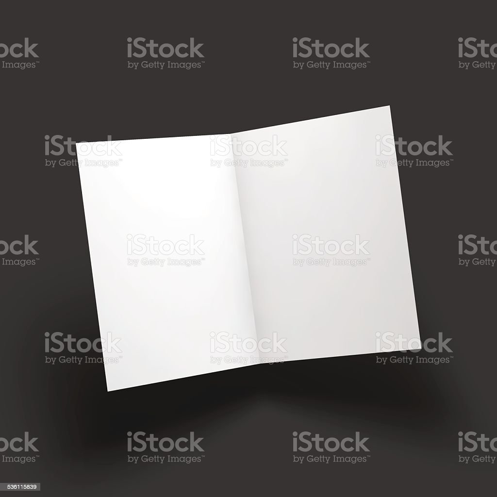 Magazine, booklet, postcard, business card or brochure mockup template vector art illustration
