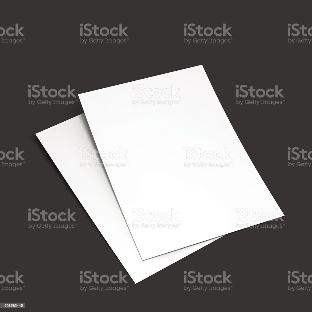 Magazine, booklet, postcard, flyer, business card or brochure mockup template. vector art illustration
