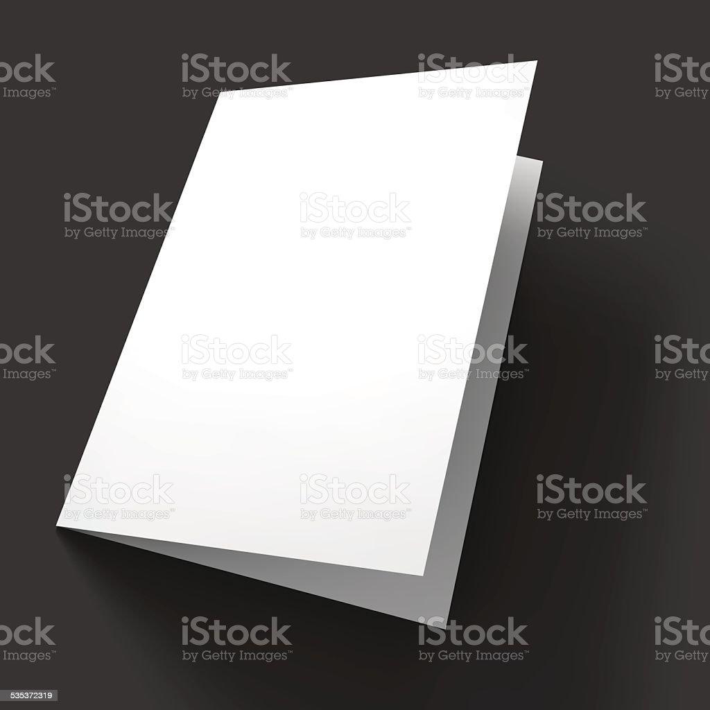 Magazine, booklet, postcard, flyer, business card or brochure mockup template vector art illustration