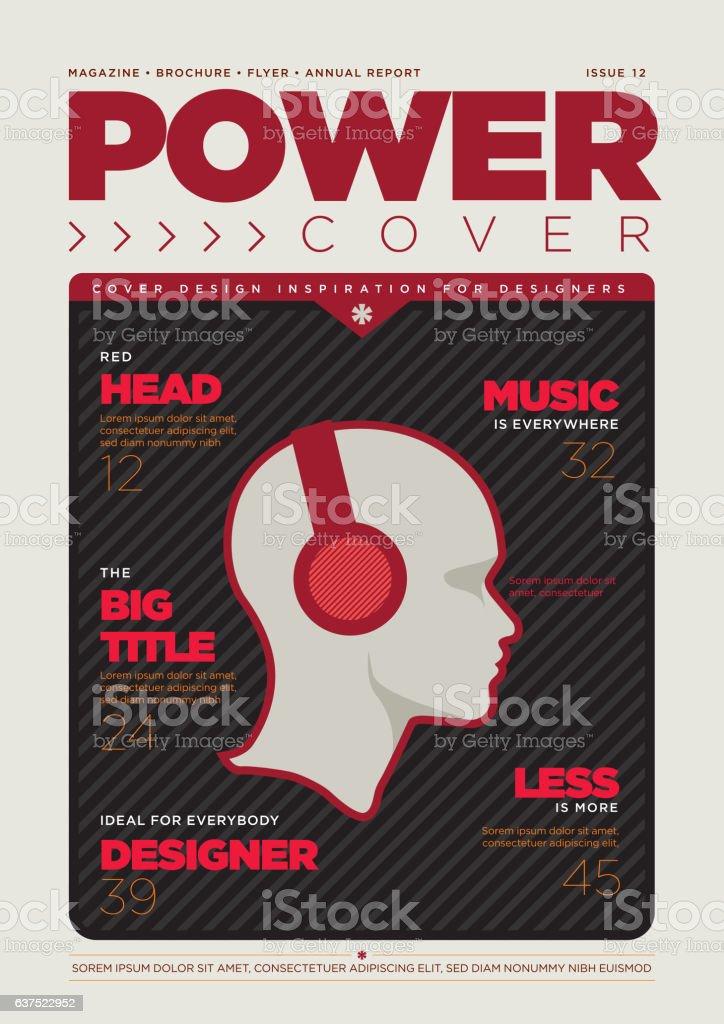 Magazine Cover Design Template vector art illustration