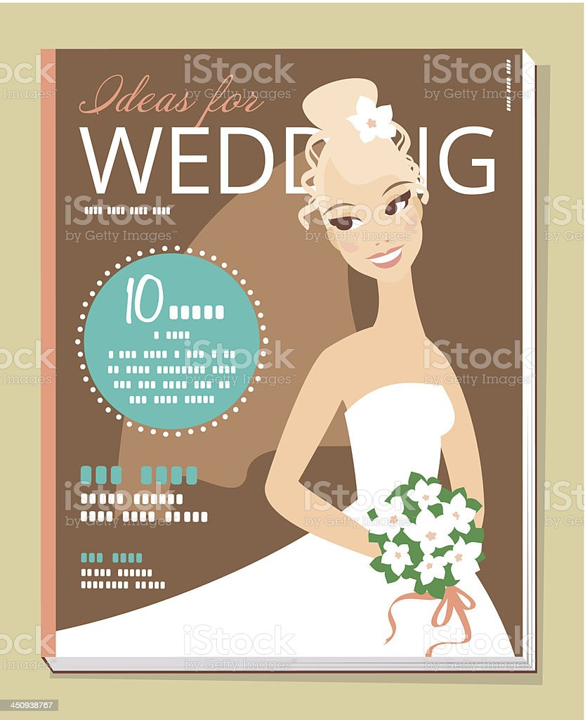 Magazine cover royalty-free stock vector art