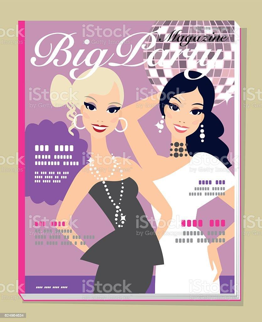 Magazine cover vector art illustration