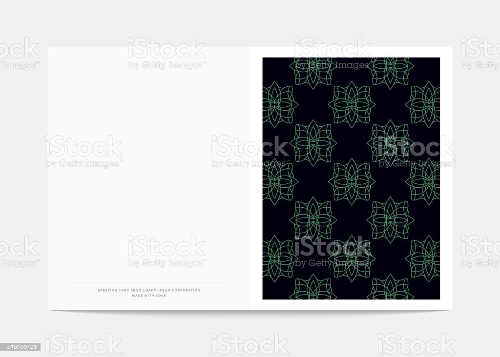 Magazine cover with geometric patterns. Cover page template . vector art illustration